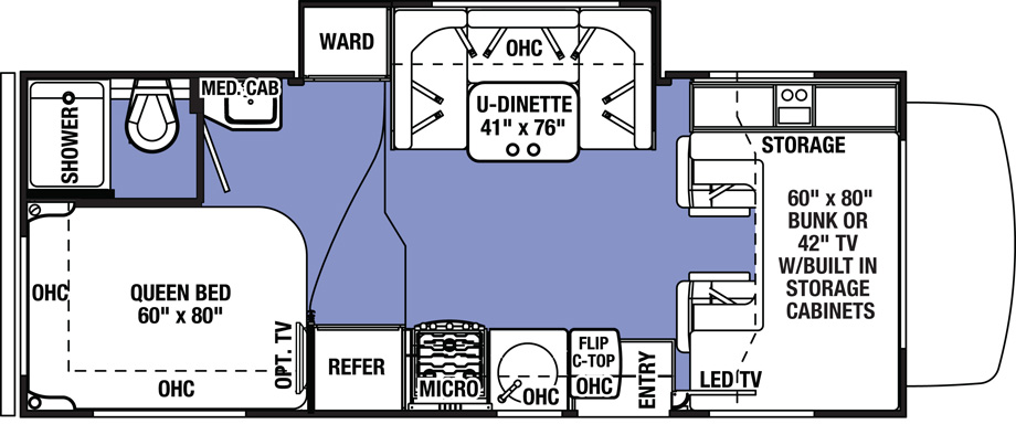 sunseeker 2290S floorplan